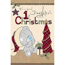 Daughters 1st Xmas Me to You Bear Christmas Card