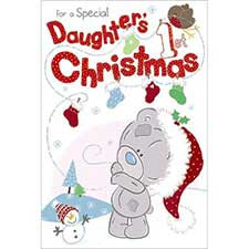 Daughters 1st Christmas Me to You Bear Card