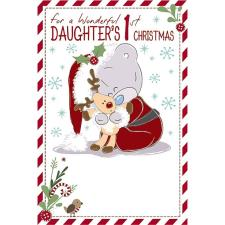 Daughters 1st Christmas Tiny Tatty Teddy Me to You Bear Christmas Card
