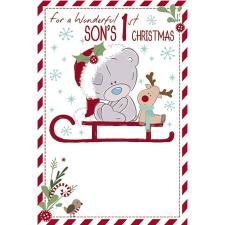 Sons 1st Christmas Tiny Tatty Teddy Me to You Bear Christmas Card