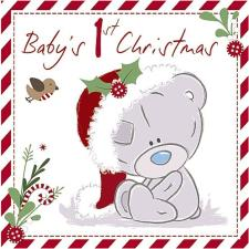 Baby's 1st Tiny Tatty Teddy  Me to You Bear Christmas Card