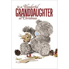 3D Holographic Granddaughter Me to You Bear Christmas Card