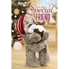 3D Holographic Special Friend Me to You Bear Christmas Card