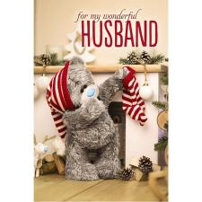 3D Holographic Wonderful Husband Me to You Bear Christmas Card