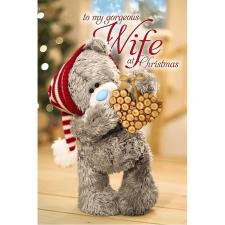 3D Holographic Gorgeous Wife Me to You Bear Christmas Card