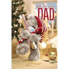3D Holographic Dad Me to You Bear Christmas Card