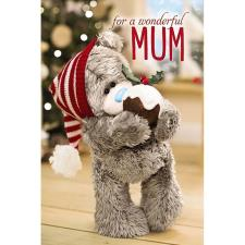 3D Holographic Wonderful Mum Me to You Bear Christmas Card