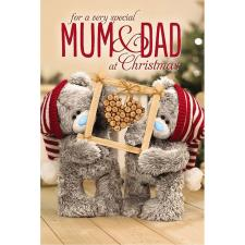 3D Holographic Special Mum and Dad Me to You Bear Christmas Card