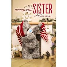 3D Holographic Sister Me to You Bear Christmas Card