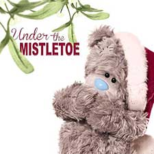 3D Holographic Under the Mistletoe Me to You Bear Christmas Card