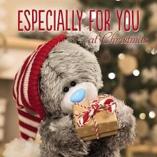 3D Holographic Bear and Gift Me to You Bear Christmas Card
