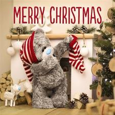 3D Holographic Bear and Stocking  Me to You Bear Christmas Card