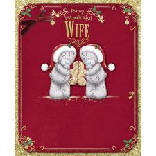Wonderful Wife Me To You Bear Handmade Boxed Christmas Card