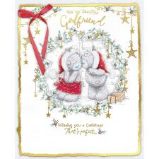 Girlfriend Me to You Bear Handmade Boxed Christmas Card