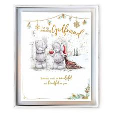 Amazing Girlfriend Me to You Bear Handmade Boxed Christmas Card