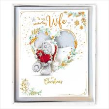 Amazing Wife Me to You Bear Handmade Boxed Christmas Card