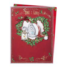 One I Love Me To You Bear Luxury Boxed Christmas Card
