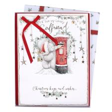Lovely Girlfriend Me to You Bear Luxury Boxed Christmas Card
