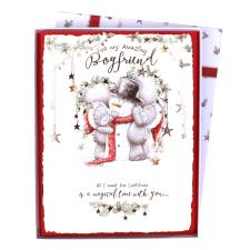 Boyfriend Me to You Bear Luxury Boxed Christmas Card