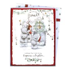 Fiance Me to You Bear Luxury Boxed Christmas Card