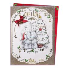 One I Love Me To You Bear Luxury Giant Boxed Christmas Card