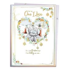 One I Love Me to You Bear Giant Luxury Boxed Christmas Card