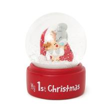 My 1st Christmas Tiny Tatty Teddy Snow Globe