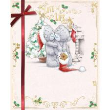 Love Of My Life Bears Hugging  Me To You Bear Christmas Card