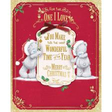 One I Love Keepsake Tag Large Me To You Bear Christmas Card