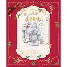 My Darling Husband Large Me To You Bear Christmas Card