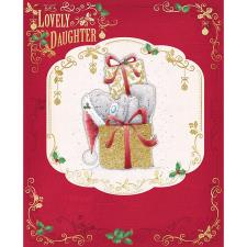 Lovely Daughter Large Me To You Bear Christmas Card