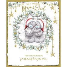 Mum & Dad Handmade Me to You Bear Christmas Card