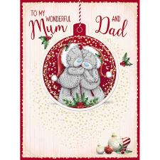 Mum & Dad Large Keepsake Me to You Bear Christmas Card
