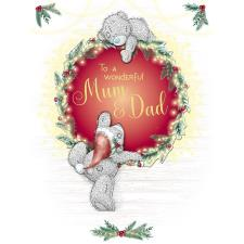 Wonderful Mum & Dad Large Me to You Bear Christmas Card