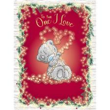 To The One I Love Large Me to You Bear Christmas Card