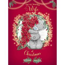 Beautiful Wife Large Me to You Bear Christmas Card