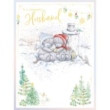 Wonderful Husband Handmade Large Me to You Bear Christmas Card