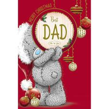 Best Dad Keepsake Beer Mat Me To You Bear Christmas Card