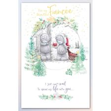 Beautiful Fiancee Handmade Me to You Bear Christmas Card