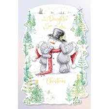 Lovely Daughter & Son In Law Handmade Me to You Bear Christmas Card