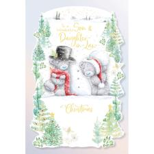 Wonderful Son & Daughter In Law Handmade Me to You Bear Christmas Card