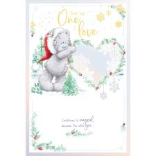 One I Love Pop Up Handmade Me to You Bear Christmas Card