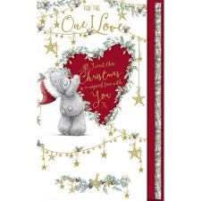 One I Love Keepsake Handmade Me to You Bear Christmas Card