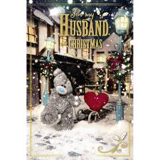 3D Holographic Husband Me to You Bear Christmas Card