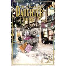 3D Holographic Wonderful Daughter Me to You Bear Christmas Card