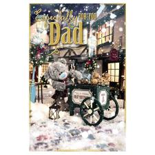 3D Holographic Especially For You Dad Me to You Bear Christmas Card