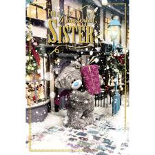 3D Holographic Wonderful Sister Me to You Bear Christmas Card