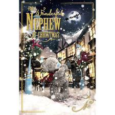 3D Holographic Wonderful Nephew Me to You Bear Christmas Card