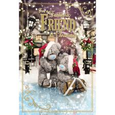 3D Holographic Fantastic Friend Me to You Bear Christmas Card