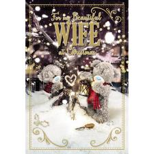 3D Holographic Beautiful Wife Me to You Bear Christmas Card